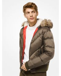 b77b43b0fe6af Michael Kors - Faux-fur Trimmed Quilted-nylon Down Jacket - Lyst