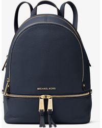 Michael Kors - Rhea Medium Leather Backpack - Lyst