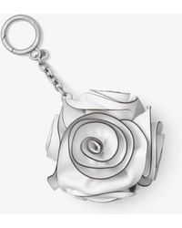 Michael Kors - Origami Rose Leather Key Chain - Lyst