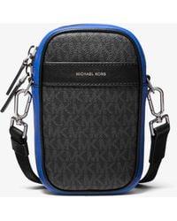 Michael Kors Borsa a tracolla Greyson con logo per smartphone - Blu