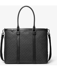 Michael Kors Hudson Logo Tote Bag - Black