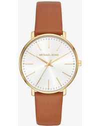 Michael Kors - Pyper Gold-tone Leather Watch - Lyst