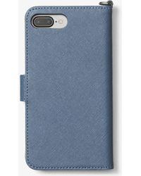 Michael Kors | Saffiano Leather Folio Phone Case For Iphone 7 Plus | Lyst