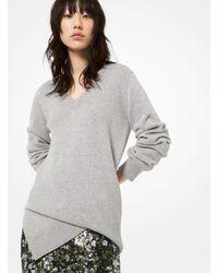 Michael Kors Cashmere Asymmetric Sweater - Grey