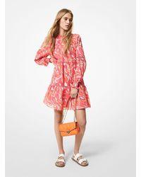 Michael Kors Printed Cotton Lawn Mini Dress - Multicolour