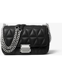 Michael Kors Sloan Small Quilted Leather Crossbody Bag - Black