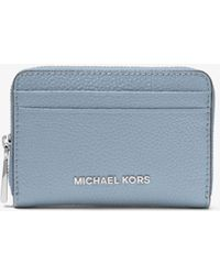Michael Kors - Mercer Small Pebbled Leather Wallet - Lyst