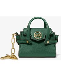 Michael Kors Carmen Leather Bag Charm - Green