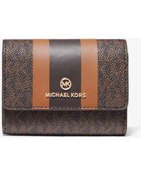 Michael Kors Small Logo Stripe Card Case - Multicolour