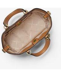 Michael Kors Brooklyn Small Pebbled Leather Satchel - Brown
