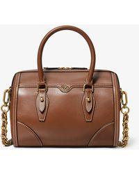 Michael Kors Monogramme Leather Duffel Bag - Brown