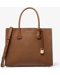 Michael Kors Grand cabas Mercer en cuir saffiano - Marron
