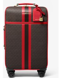 Michael Kors Bedford Travel Extra-large Logo Stripe Suitcase - Multicolour