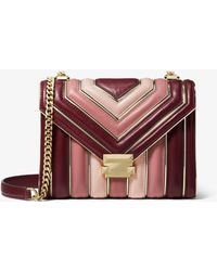 Michael Kors - Whitney Large Quilted Tri-color Leather Convertible Shoulder Bag - Lyst