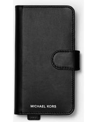 Michael Kors - Embellished Leather Folio Case For Iphone X/xs - Lyst