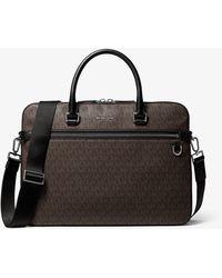 Michael Kors Henry Logo Briefcase - Black