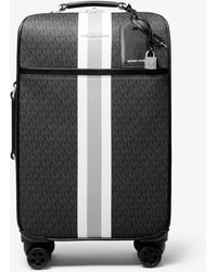 Michael Kors Bedford Travel Extra-large Logo Stripe Suitcase - Black