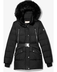 Michael Kors Quilted Nylon Puffer Coat - Black