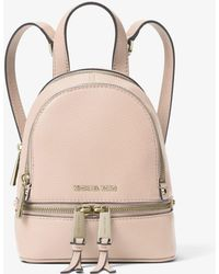 Michael Kors Rhea Mini Leather Backpack - Pink