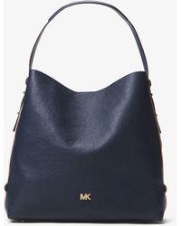 Michael Kors Griffin Large Leather Shoulder Bag - Blue