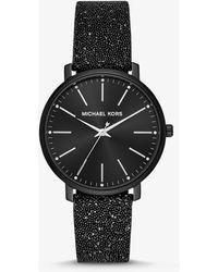 Michael Kors Reloj Pyper en tono negro con cristales de Swarovski®