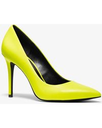 Michael Kors Claire Neon Leather Pump - Yellow