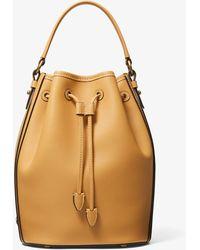 Michael Kors Monogramme Medium Leather Bucket Bag - Multicolor