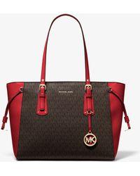Michael Kors Shopper Voyager Medium mit Logo - Rot