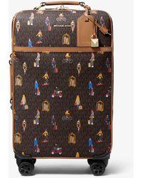 Michael Kors Bedford Travel Extra-large Jet Set Girls Print Suitcase - Brown