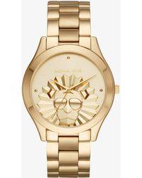 Michael Kors - Slim Runway Gold-tone Watch - Lyst