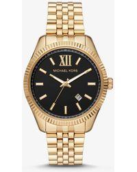 Michael Kors Übergroße Armbanduhr Blair im Rosé-Goldton mit Pavé-Fassung und Azetatarmband - Mettallic