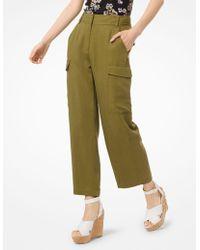 Michael Kors Cropped Cargo Pants - Green
