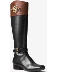 Michael Kors - Stockard Leather Boot - Lyst