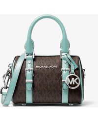 Michael Kors Bedford Legacy Extra-small Logo Duffle Crossbody Bag - Multicolour