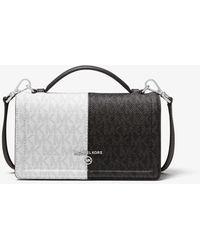 Michael Kors Jet Set Small Two-tone Logo Smartphone Crossbody Bag - Black