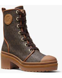 Michael Kors Corey Logo Combat Boot - Brown