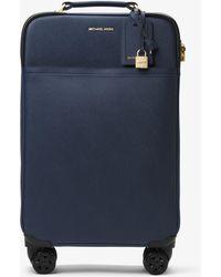 Michael Kors Large Saffiano Leather Suitcase - Blue