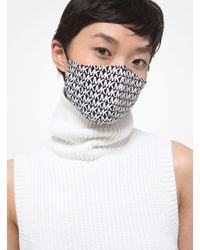 Michael Kors Logo Stretch Cotton Face Mask - White