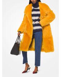 Michael Kors Shearling Coat - Orange