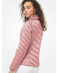 Michael Kors Quilted Nylon Packable Puffer Jacket - Pink
