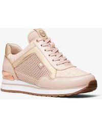 Michael Kors - Maddy Mixed-media Trainer - Lyst