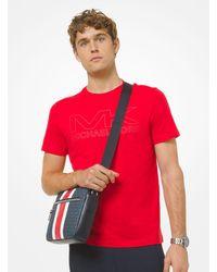 Michael Kors Hudson Logo Stripe Camera Bag - Multicolour