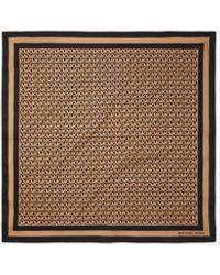 Michael Kors Logo Cotton Scarf - Brown