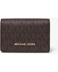 Michael Kors Jet Set Small Logo and Leather Wallet - Mehrfarbig