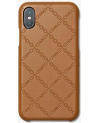 4cf0ec76cc Michael Kors - Custodia In Pelle Con Motivo A Catena In Rilievo Per Iphone  X/