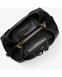 Michael Kors Michael Mercer Gallery Convertible Bucket Leather Shoulder Bag - Black