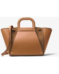 Michael Kors - Clara Large Leather And Suede Tote - Lyst