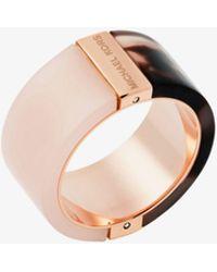 Michael Kors - Rose Gold-tone Color-block Ring - Lyst