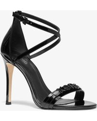 Michael Kors Goldie Patent Leather Sandal - Black