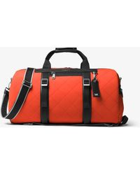 Michael Kors Mk Odin Quilted Neoprene Convertible Duffle - Multicolour